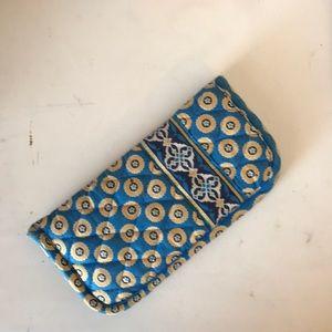 Vera Bradley blue and yellow eye glasses case